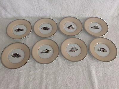 Fitz & Floyd  Coquillier Plates Shell Designs 4 Different Shells 8 Plates 177