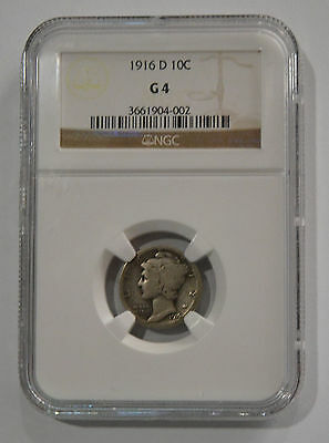 1916-1945 Mercury Dime Set with 1916 D Graded G 4 By NGC - 80 coins!