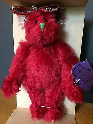 "Merry Mistletoe, 9"" Christmas Bear by Annette Funicello, LE of 2500, NIB"