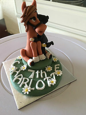 Edible Large Horse and Rider Cake Topper Decorations