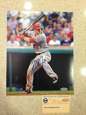 Steiner Authenticated Mike Trout Signed 8X10 Photo Mlb
