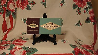 Vintage ACME Plastic Folding Cribbage Board  with original box.Good Condition !