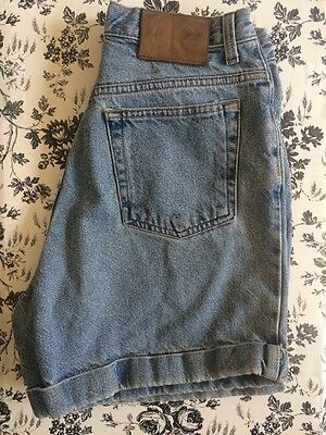 Calvin Klein Jeans VTG 90's Grunge High Waisted Shorts Cuff Light Wash 28 6/8