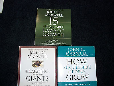 John C. Maxwell - Trio of Audiobooks - All Excellent Cond. - Original Owner