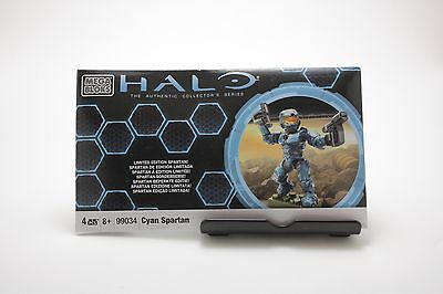 Halo 2010 Limited Edition Cyan Spartan Figure 99034 Mega Bloks