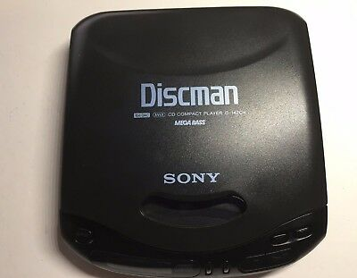 Vintage Sony D-142CK Discman Portable CD Player with Car Mount Tested Working