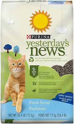 Yesterday's News Cat Litter Non-Clumping Fresh Scent 26.4-Pound Bag Pack of 1