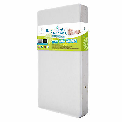 LABY-MT5260BORGCO-Natural VII Breath-Safe 2 in 1 Memory Foam Crib Mattress with