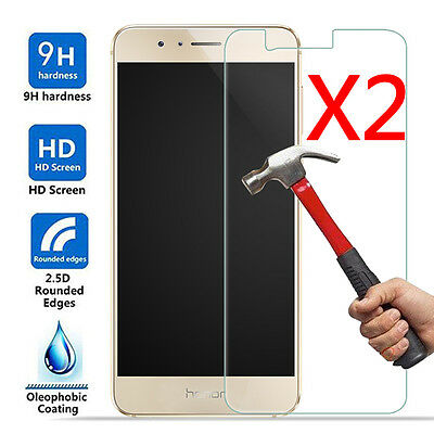 2Pcs 9H+ Premium Tempered Film Glass Cover Screen Protector For Huawei Honor 8