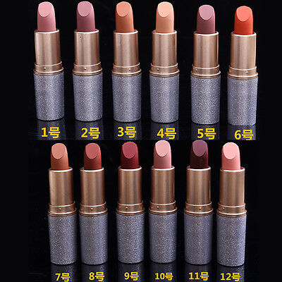 12 Farben Waterproof Long Lasting Makeup Matte Lipstick Lip Gloss Lippenstift