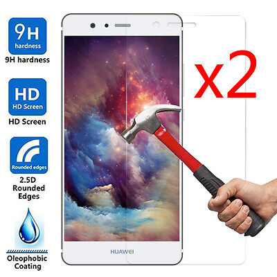 2Pcs 9H+ Premium Tempered Glass Film Cover Screen Protector For Huawei Ascend P9