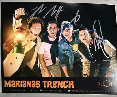 Autographed Marianas Trench Photo