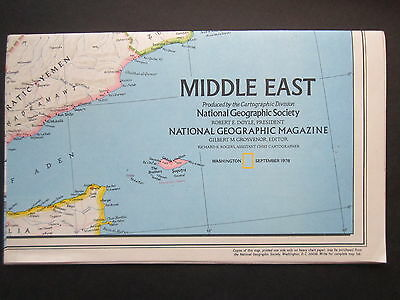 EARLY MIDDLE EAST CIVILIZATION MAP National Geographic (1978)