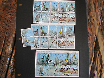 National Wildlife Federation Vintage 1973 Postage Stamps Sheet Birds