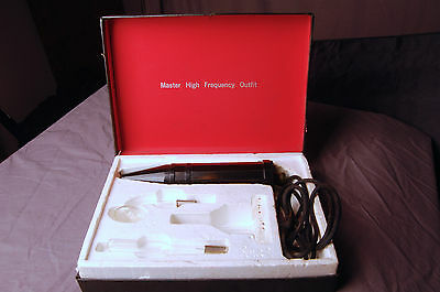 Vintage Master High Frequency UV Ray Quack Medicine, box and 3 Attachments