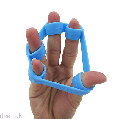 Circle Hand Resistance Band Yoga Exercisers Silicone Finger Stretcher dk46