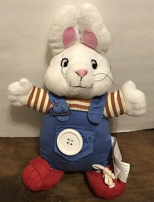 Plush Max From Max And Ruby -  Learn To Get Dressed  Buttons Tie Shoes