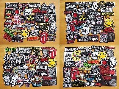 Lot of 30 Wholesale Music Rock Band Metal Punk Iron On Patch toppe Motif Sew #R