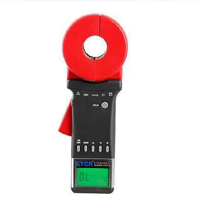 New ETCR2100+ Digital Clamp On Ground Earth Resistance Tester Meter s
