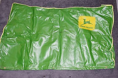 """Vtg JOHN DEERE Large Green Tractor Cover 70"""" x 40"""" Lawn Mower Riding 185 425 ?"""