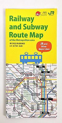 JAPAN Tokyo Railway and  Subway Route Map of the Metropolitan area JR and Other