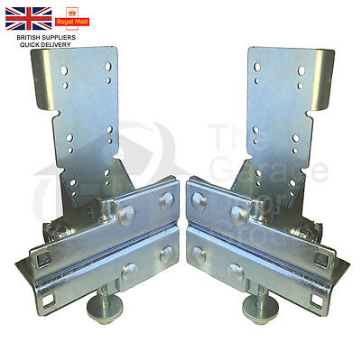 Industrial Sectional Door Non Adjustable Anti Drop Safety Blade Bottom Brackets