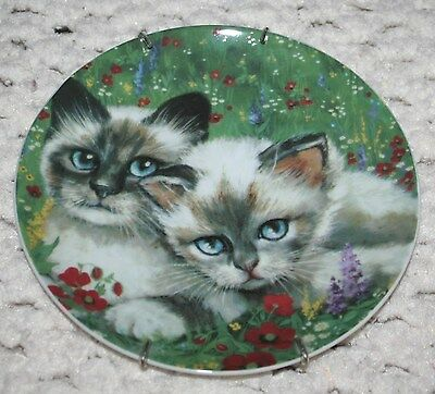 """Cat Collection """"Country Cat"""" Collectible plate Formalities by Baum Bros EUC"""