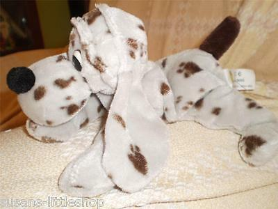 RAV RUSHDEN Beanie SPOTTY Dalmatian Soft Toy DOG with LONG EARS COLLECTABLE
