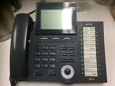 LG Aria 130 Phone System with 14 x Handsets (Black and White)