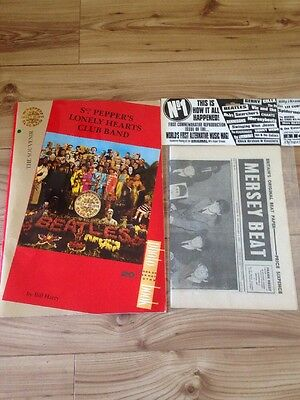THE BEATLES SGT. PEPPERS Record Rare Photo BOOK By Bill Harry News Paper VGC