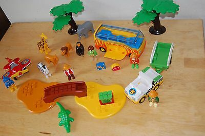 playmobil 123, le safari,set 5047,le coffret des animaux de la savane,COMPLET