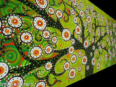 Australia Oil Painting On Canvas Aboriginal Art Tree Flower Of Life By Jane