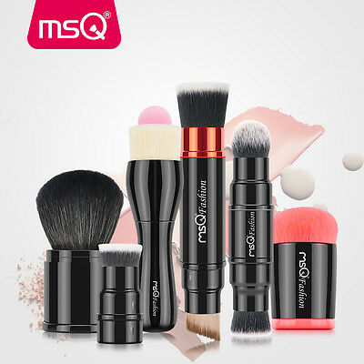 6Pcs Retractable Double Ended Makeup Brushes Sets Foundation Powder Brush Kits