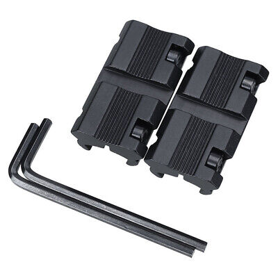 """1 Pair Picatinny 11mm Dovetail To 7/8"""" 20mm Weaver Rail Adapter Mount New #"""