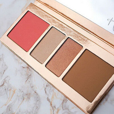 4 Colors Monochrome Blusher Powder Palette Soft Smooth Concealer Rosy