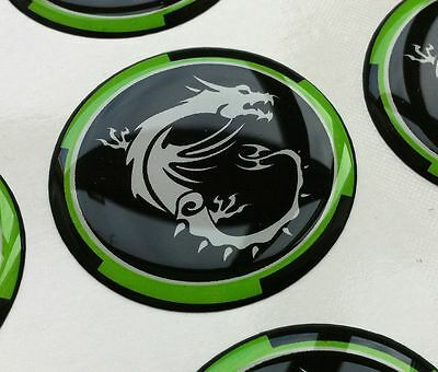 MSI 100 Millenium Gaming Dragon 3D domed sticker badge 28mm round