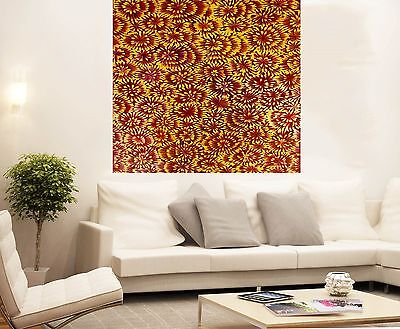Oil Art Painting large canvas by jane crawford Bush Petals  Australia abstract