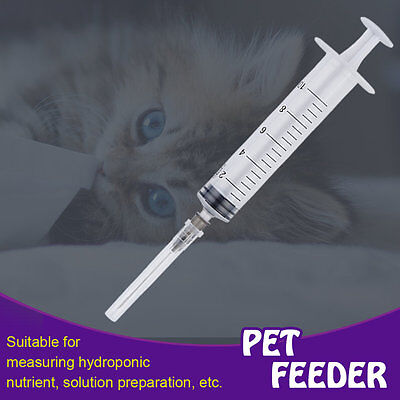 Disposable Plastic Injector Syringe 10ml For Measuring Nutrient Pet Feeder WW