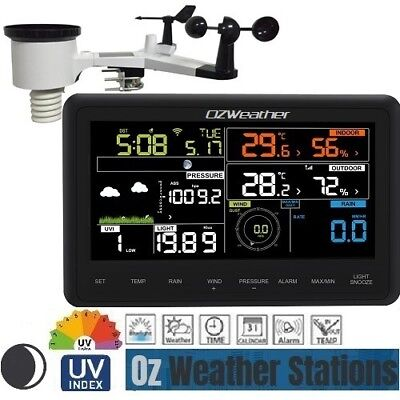 OZWeather™ Solar Powered WiFi Weather Station with Colour Display