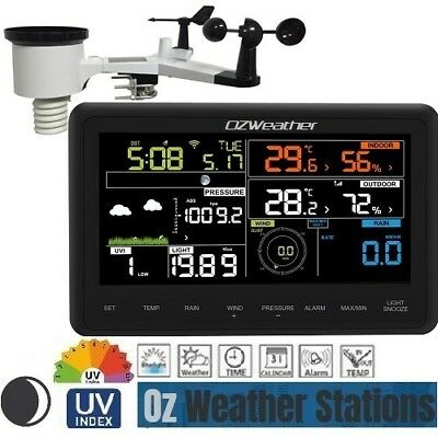 Solar Powered WiFi Weather Station with Colour Display