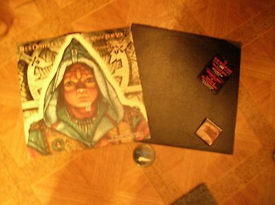 """Blue Oyster Cult 2 albums """"Burnin' for You"""" Import , promo lp , pins buttons"""