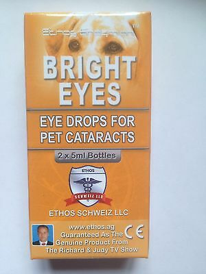 Ethos Bright Eyes Cataract Eye Drops For Pets 1 Box - 2 x 5 ML Bottles