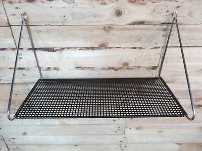 1960s RETRO VINTAGE  STRING BLACK METAL / CHROME TOMADO WALL SHELVING