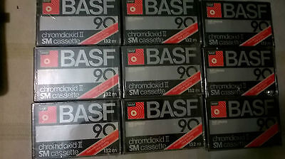 8 pz BASF chromdioxid II SM 90 normal nuove sigillate cassette mc lotto stock