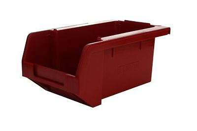 SIGNS & LABELS Stack & Nest Storage Bins - Red - H 80mm x L 172mm x W 109mm - Pa