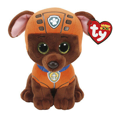 "Zuma Plush Soft Toy, Paw Patrol, Ty Beanie Boo's Collection 6"" (15cm)"