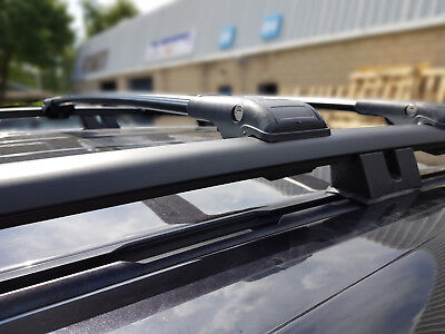 Mercedes Vito Viano W639 Black Lockable  Roof Rack Bar Cross Bars 2003 On 75 Kg