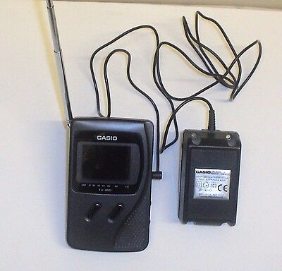 CASIO LCD Hand held pocket colour TV-600D Vintage Collectable