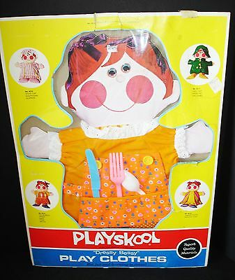 RARE VINTAGE 1970's PLAYSKOOL DRESSY BESSY DOLL CLOTHING OUTFIT HOUSEDRESS #4518