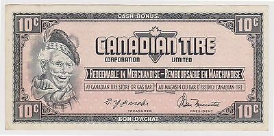 (N2-28) 1960 Canada 10c Canada Tire promotional bank note (C)